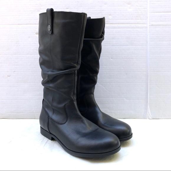 34e055878f60b Birkenstock SARNIA Black Leather Slouch Boots NEW